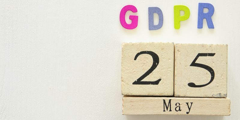 General Data Protection Regulation - May 25 date on fridge