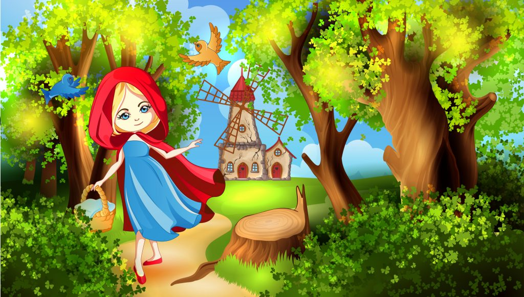 Little Red Riding Hood in an online world
